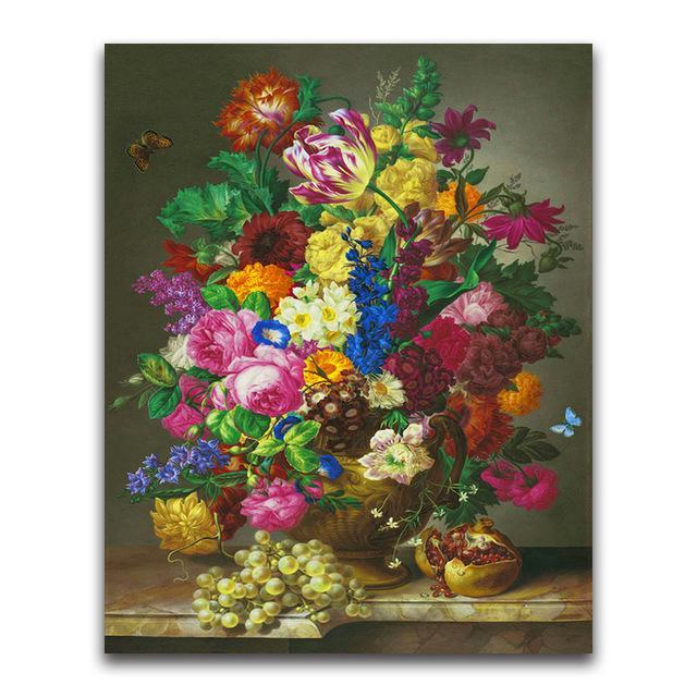 5D Diamond Painting Grapes and Pomegranate Flowers Kit