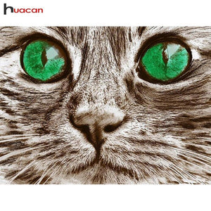5D Diamond Painting Green Cats Eye Kit