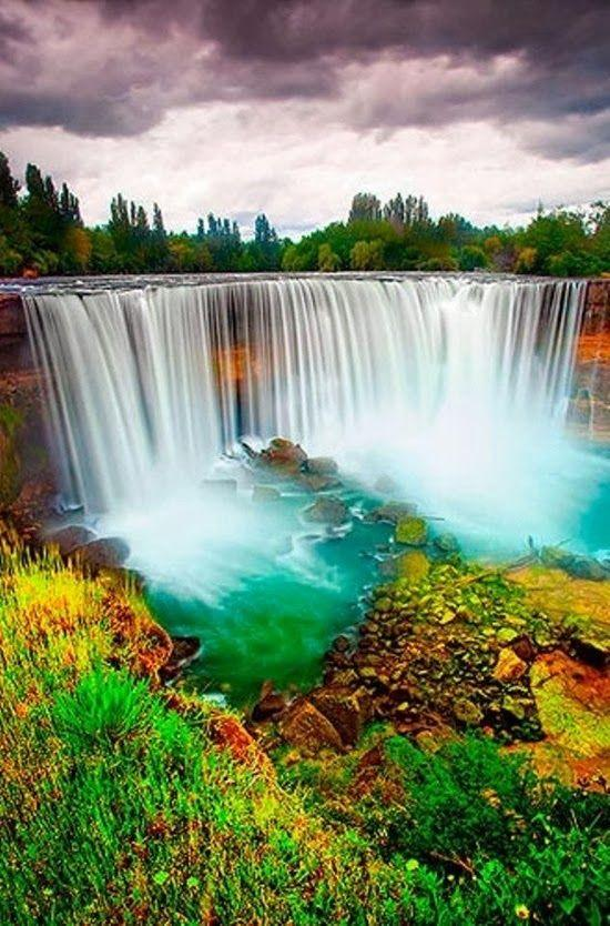 5D Diamond Painting Green Water Waterfalls Kit