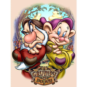 5D Diamond Painting Grumpy and Dopey Kit
