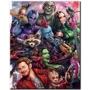 5D Diamond Painting Guardians of the Galaxy Collage Kit