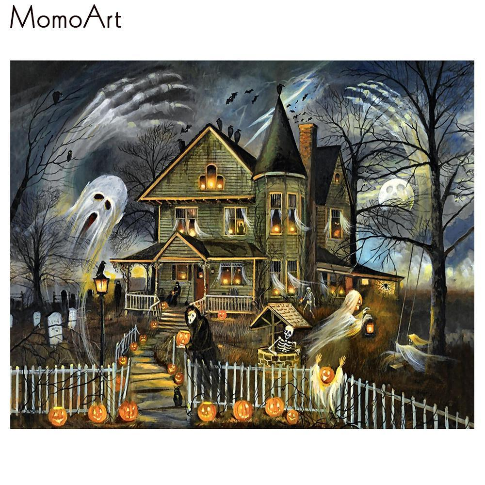 5D Diamond Painting Halloween Haunted House Kit
