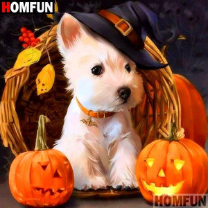 5D Diamond Painting Halloween Puppy Kit