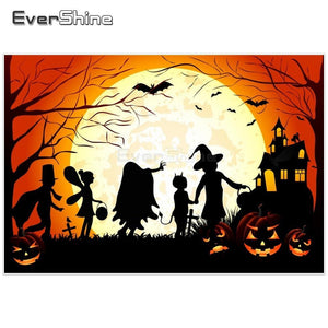 5D Diamond Painting Halloween Trick or Treaters Kit