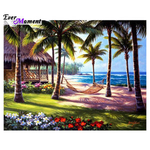 5D Diamond Painting Hammock between the Palms kit