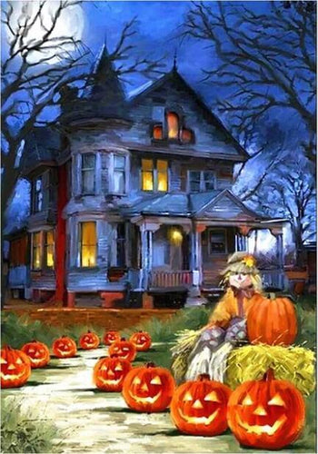 5D Diamond Painting Haunted House Kit