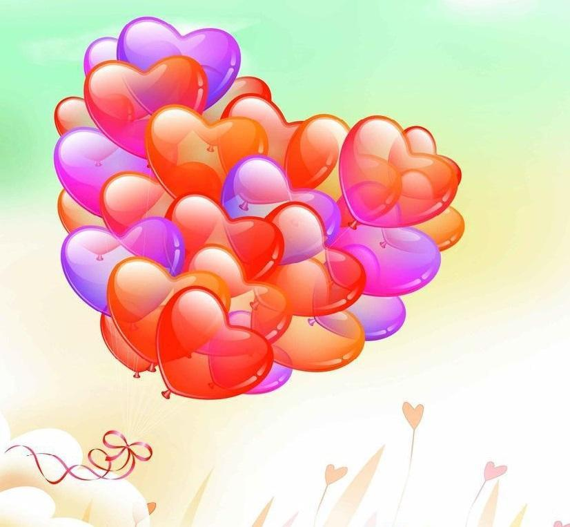 5D Diamond Painting Heart Balloons Kit