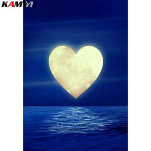 5D Diamond Painting Heart Moon Kit