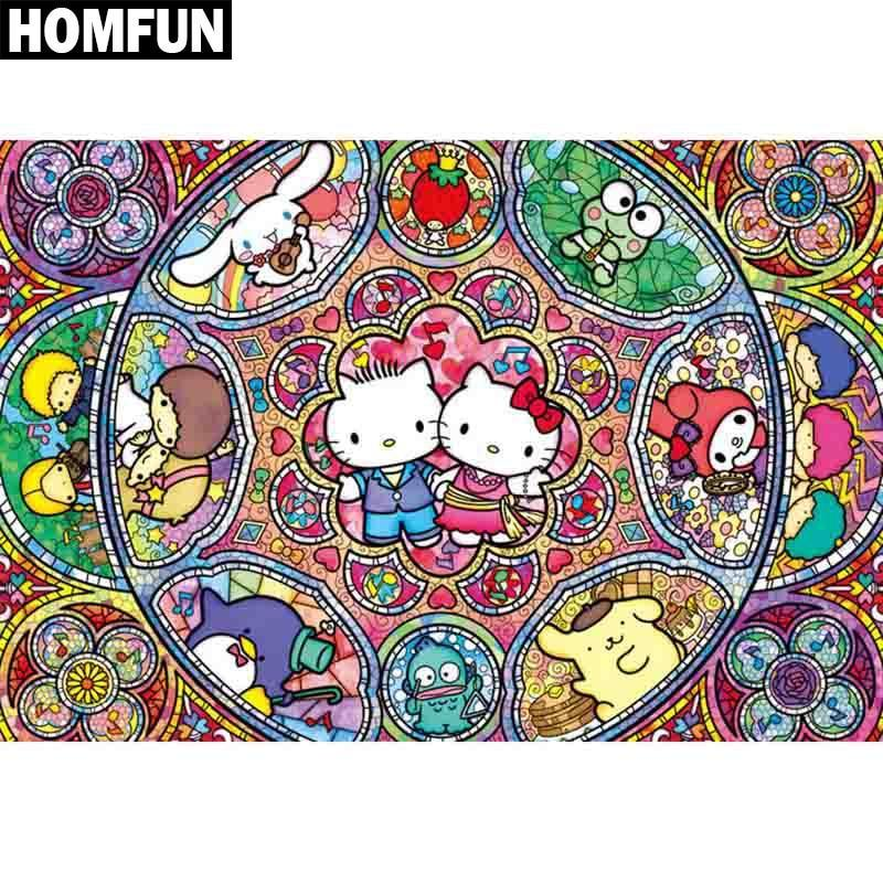 5D Diamond Painting Hello Kitty Collage Kit