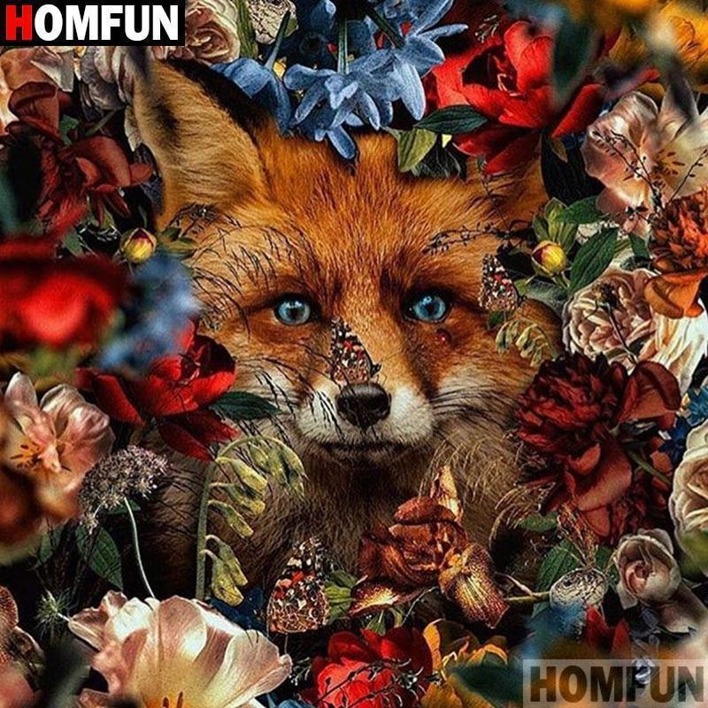 5D Diamond Painting Hidden Red Fox Kit