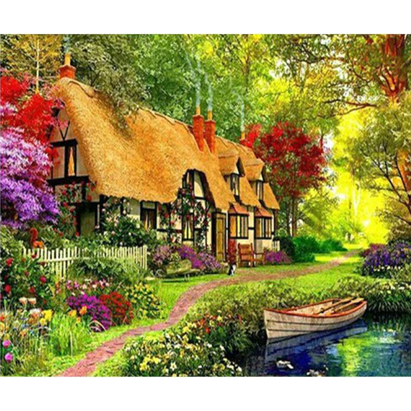 5D Diamond Painting Hideaway Cottage Kit