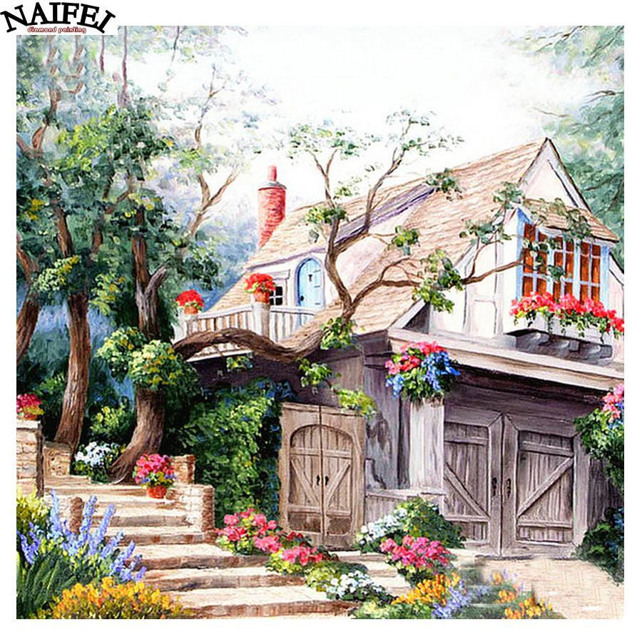 5D Diamond Painting Hillside Home Kit