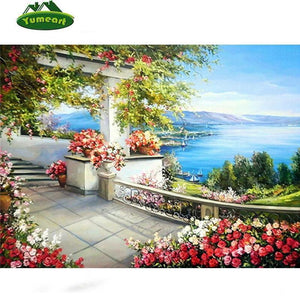 5D Diamond Painting Home View of Water Kit