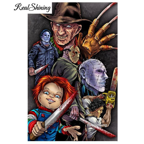 5D Diamond Painting Horror Movie Characters Kit