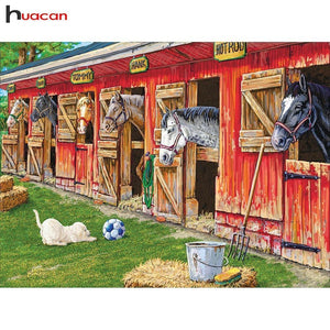 5D Diamond Painting Horse Stable Kit