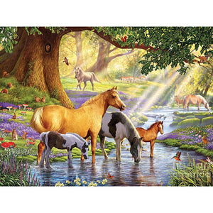 5D Diamond Painting Horse Stream Kit