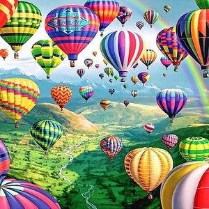 5D Diamond Painting Hot Air Balloon Festival Kit