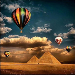 5D Diamond Painting Hot Air Balloon over Egypt Kit
