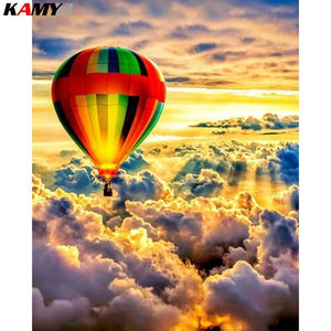 5D Diamond Painting Hot Air Balloon over the Clouds Kit