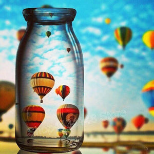 5D Diamond Painting Hot Air Balloon Through the Glass Kit