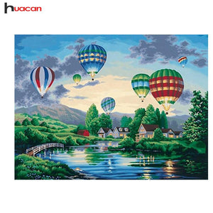 5D Diamond Painting Hot Air Balloons Kit