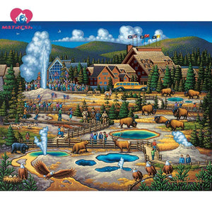 5D Diamond Painting Hot Springs Kit
