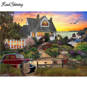 5D Diamond Painting House by the Shore Kit
