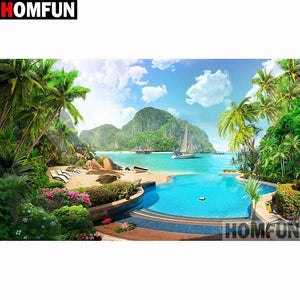 5D Diamond Painting Island Cove Kit