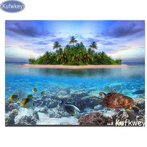 5D Diamond Painting Island in the Sea Kit