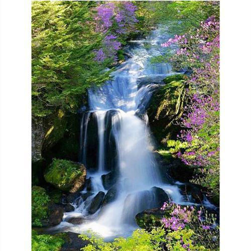 5D Diamond Painting Island Waterfall Kit