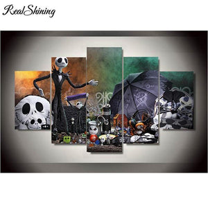 5D Diamond Painting Jack Skellington 5 Panel Kit