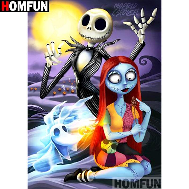 5D Diamond Painting Jack Skellington and Sally Kit