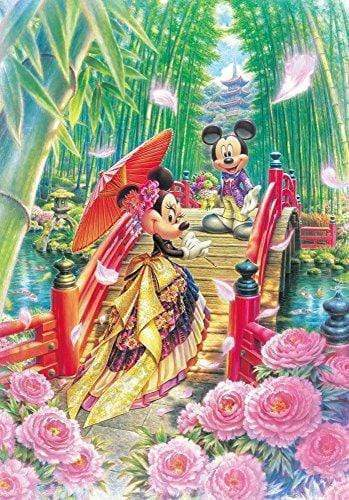 5D Diamond Painting Japanese Mickey and Minnie Kit