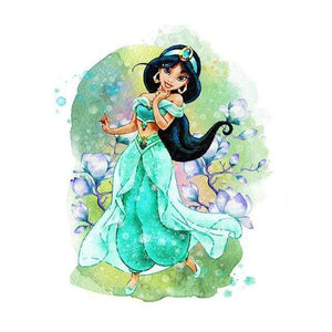 5D Diamond Painting Jasmine Watercolor Kit