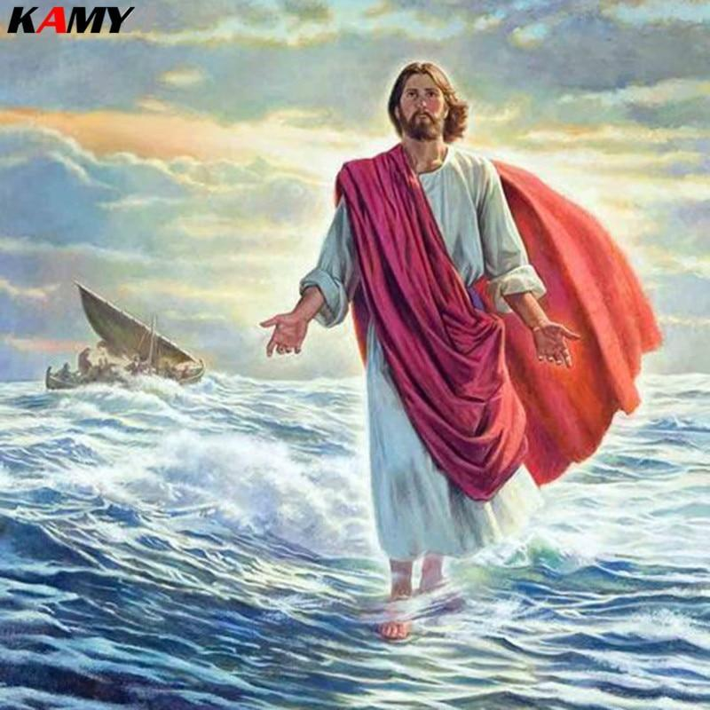 5D Diamond Painting Jesus Walks on Water Kit