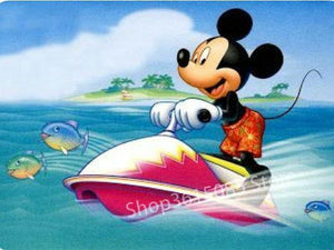 5D Diamond Painting Jet Ski Mickey Mouse Kit
