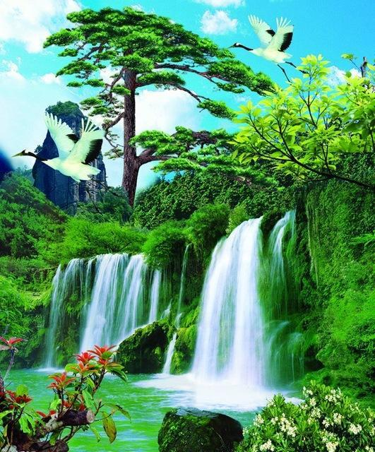 5D Diamond Painting Jungle Waterfalls Kit