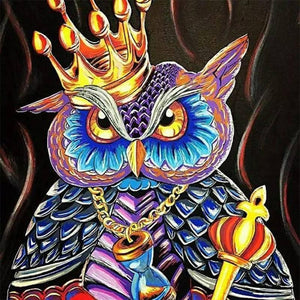 5D Diamond Painting King Owl Kit