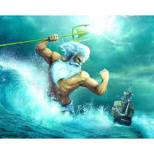 5D Diamond Painting King Triton Kit