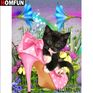 5D Diamond Painting Kitten in Heels Kit