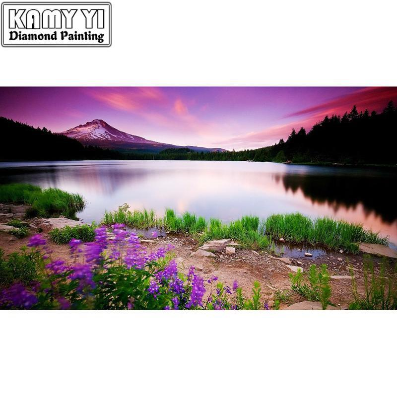 5D Diamond Painting Lake Landscape Kit