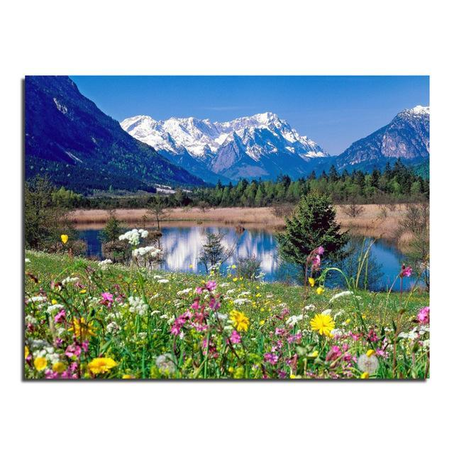 5D Diamond Painting Lake Meadow Kit