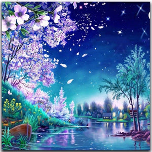 5D Diamond Painting Lavender Blossoms Kit
