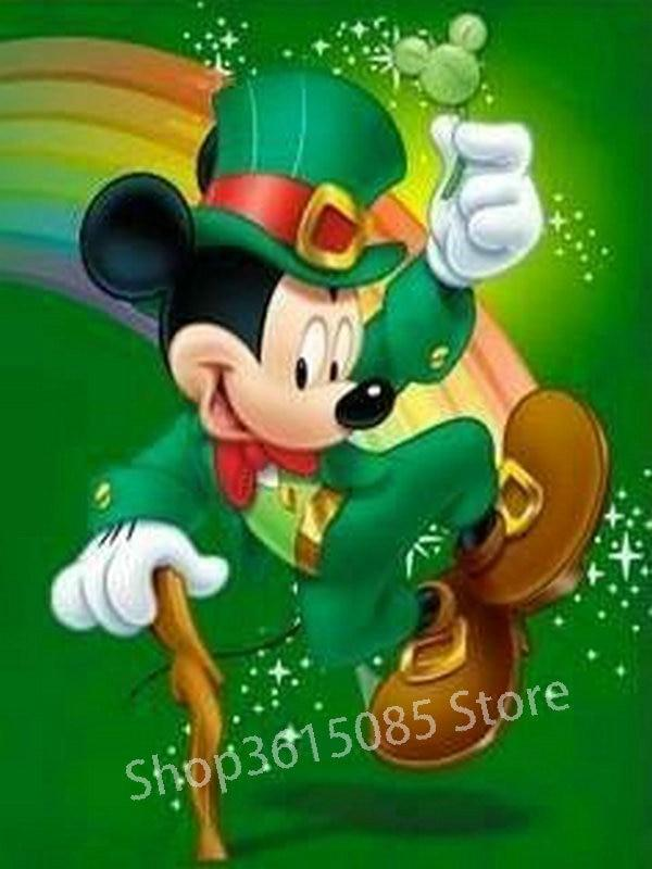 5D Diamond Painting Leprechaun Mickey Mouse Kit