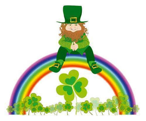 5D Diamond Painting Leprechaun Rainbow Kit