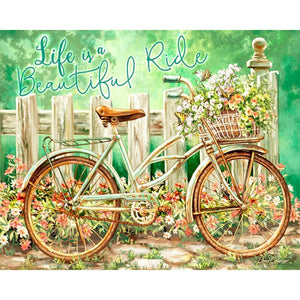 5D Diamond Painting Life is a Beautiful Ride Kit