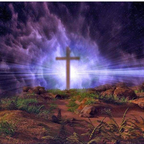 5D Diamond Painting Light Behind the Cross Kit