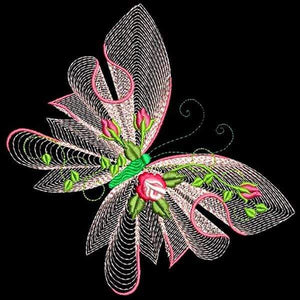 5D Diamond Painting Light Pink Lace Butterfly Kit