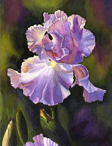 5D Diamond Painting Light Purple Iris Kit