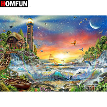 5D Diamond Painting Lighthouse and the Sea Kit